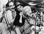 Marx Brothers - Marx Brothers Portrait with Three man Sucking Up Something