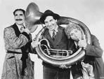 Marx Brothers - Marx Brothers Posed in Classic Portrait Playing Musical Instruments