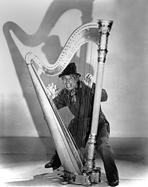Marx Brothers - Marx Brothers Cast Playing Harp