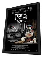 Mary and Max - 27 x 40 Movie Poster - French Style B - in Deluxe Wood Frame