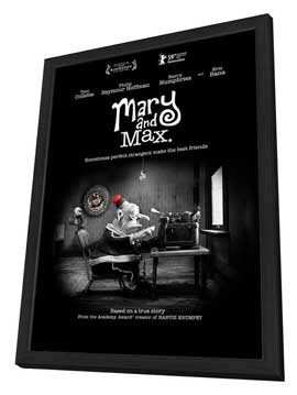 Mary and Max - 27 x 40 Movie Poster - Style A - in Deluxe Wood Frame
