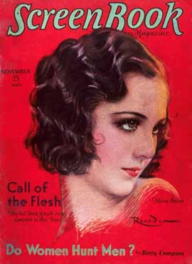 Mary Brian - 11 x 17 Screen Book Magazine Cover 1930's