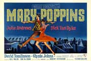 Mary Poppins - 11 x 17 Movie Poster - German Style A