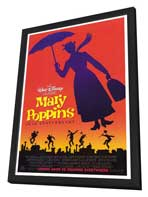 Mary Poppins - 27 x 40 Movie Poster - Style B - in Deluxe Wood Frame