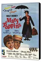 Mary Poppins - 11 x 17 Movie Poster - Argentine Style A - Museum Wrapped Canvas