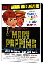 Mary Poppins - 11 x 17 Movie Poster - Style D - Museum Wrapped Canvas