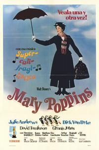 Mary Poppins - 11 x 17 Movie Poster - Spanish Style A