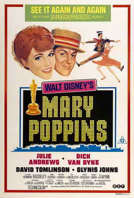 Mary Poppins - 27 x 40 Movie Poster - Style E