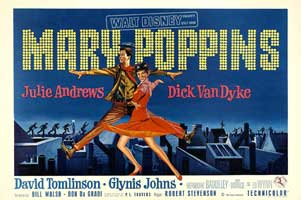 Mary Poppins - 27 x 40 Movie Poster - German Style A