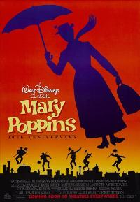 Mary Poppins - 43 x 62 Movie Poster - Bus Shelter Style B