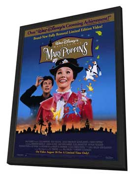 Mary Poppins - 11 x 17 Movie Poster - Style A - in Deluxe Wood Frame