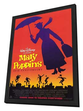 Mary Poppins - 11 x 17 Movie Poster - Style B - in Deluxe Wood Frame