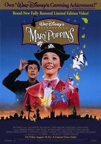 Mary Poppins - 11 x 17 Movie Poster - Style A - Museum Wrapped Canvas