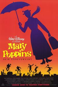 Mary Poppins - 11 x 17 Movie Poster - Style B - Museum Wrapped Canvas