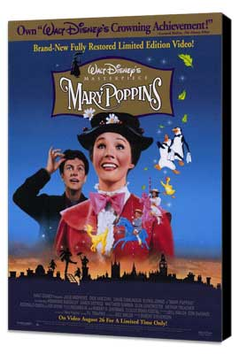 Mary Poppins - 27 x 40 Movie Poster - Style A - Museum Wrapped Canvas