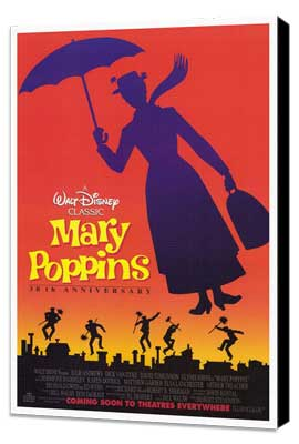 Mary Poppins - 27 x 40 Movie Poster - Style B - Museum Wrapped Canvas