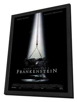 Mary Shelley's Frankenstein - 27 x 40 Movie Poster - Style A - in Deluxe Wood Frame