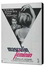 Masculine Feminine - 27 x 40 Movie Poster - French Style A - Museum Wrapped Canvas