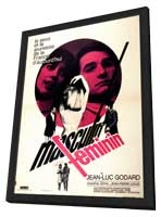 Masculine Feminine - 11 x 17 Movie Poster - French Style A - in Deluxe Wood Frame
