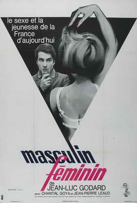 Masculine Feminine - 27 x 40 Movie Poster - French Style A