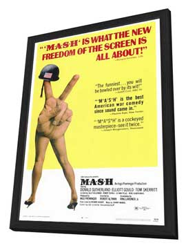 M*A*S*H - 27 x 40 Movie Poster - Style A - in Deluxe Wood Frame
