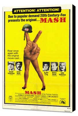 M*A*S*H - 27 x 40 Movie Poster - Style B - Museum Wrapped Canvas
