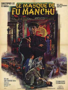 Mask of Fu Manchu - 11 x 17 Movie Poster - French Style A