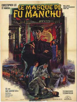 Mask of Fu Manchu - 27 x 40 Movie Poster - French Style A