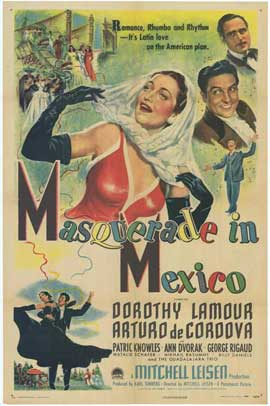 Masquerade in Mexico - 11 x 17 Movie Poster - Style A