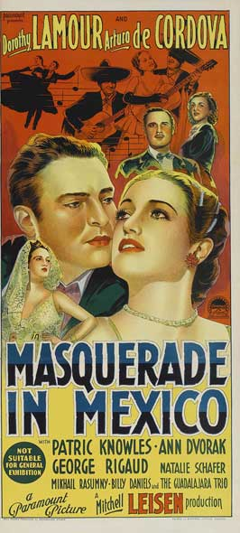 Masquerade in Mexico - 14 x 36 Movie Poster - Insert Style A