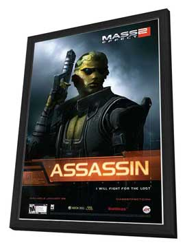 Mass Effect 2 - 27 x 40 Movie Poster - Style C - in Deluxe Wood Frame