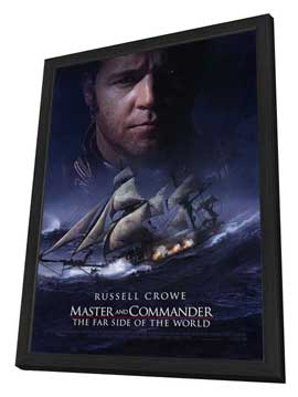 Master and Commander: The Far Side of the World - 27 x 40 Movie Poster - Style A - in Deluxe Wood Frame