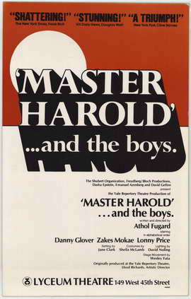 Master Harold And The Boys (Broadway) - 11 x 17 Poster - Style A