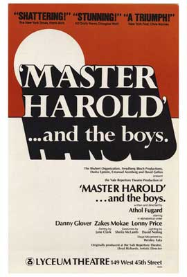 Master Harold And The Boys (Broadway) - 27 x 40 Movie Poster - Style A