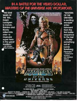 Masters of the Universe - 11 x 17 Movie Poster - Style H