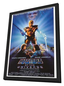 Masters of the Universe - 27 x 40 Movie Poster - Style A - in Deluxe Wood Frame