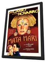 Mata Hari - 11 x 17 Movie Poster - Style B - in Deluxe Wood Frame