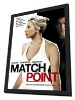 Match Point - 27 x 40 Movie Poster - Style F - in Deluxe Wood Frame