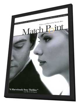 Match Point - 27 x 40 Movie Poster - Style B - in Deluxe Wood Frame