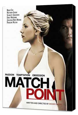 Match Point - 27 x 40 Movie Poster - Style F - Museum Wrapped Canvas