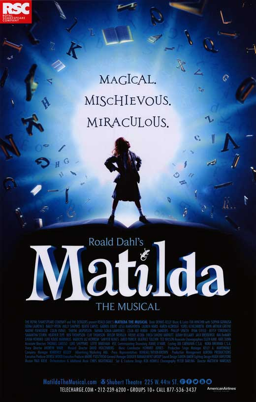 matilda broadway movie posters from movie poster shop
