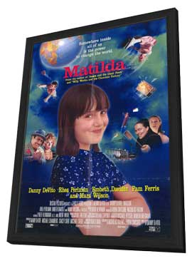 Matilda - 11 x 17 Movie Poster - Style A - in Deluxe Wood Frame