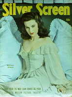 Maureen O'Hara - 11 x 17 Silver Screen Magazine Cover 1940's Style A
