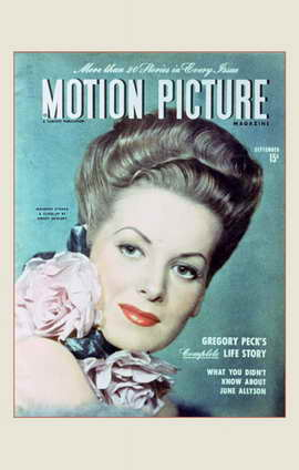 Maureen O'Hara - 11 x 17 Motion Picture Magazine Cover 1940's Style A