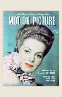 Maureen O'Hara - 27 x 40 Movie Poster - Motion Picture Magazine Cover 1940's Style A