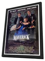 Maverick - 27 x 40 Movie Poster - Style A - in Deluxe Wood Frame