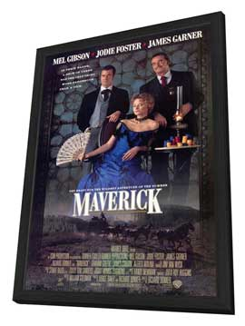 Maverick - 11 x 17 Movie Poster - Style A - in Deluxe Wood Frame