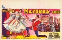 Mazurka der Liebe - 11 x 17 Movie Poster - Belgian Style A