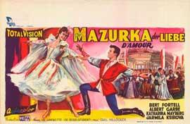 Mazurka der Liebe - 27 x 40 Movie Poster - Belgian Style A