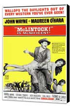 McLintock! - 11 x 17 Movie Poster - Style A - Museum Wrapped Canvas